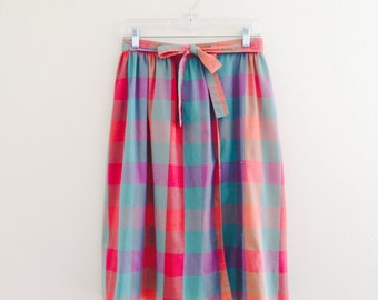Flash Sale! Colorful Checked Skirt