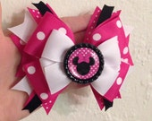 Hot Pink over the Top Minnie Mouse Bow
