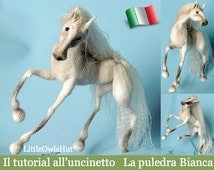 043It crochet tutorial White filly. Amigurumi Toy-PDF Of Pertseva Etsy
