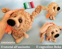 099IT On tutorial crochet Doggie Boka. Amigurumi Toy-PDF Of Pertseva Etsy