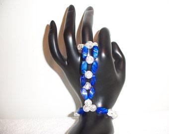 Blue Rollercoaster Hand Bracelet