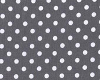 "Micahel Miller charcoal dumb dots 44"" Wide Fabric"