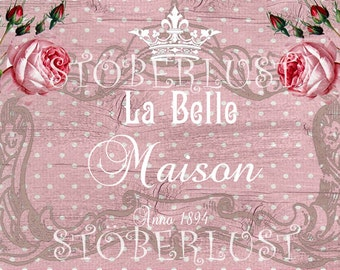 Maison rose etsy for Au maison oilcloth