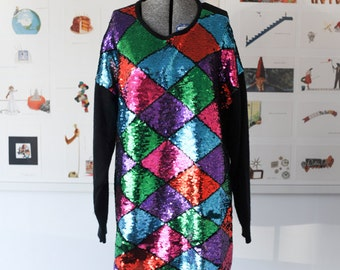 Paige II Sequin Sweater Dress
