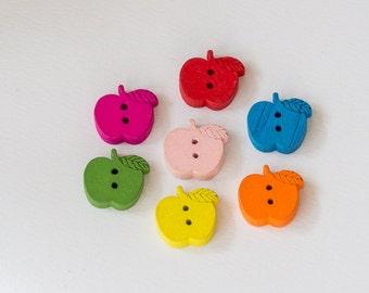Wooden apple buttons