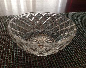Diamond Cut Crystal Bowl