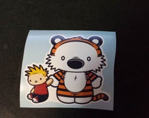 2 Calvin and Hobbes Decals Cute