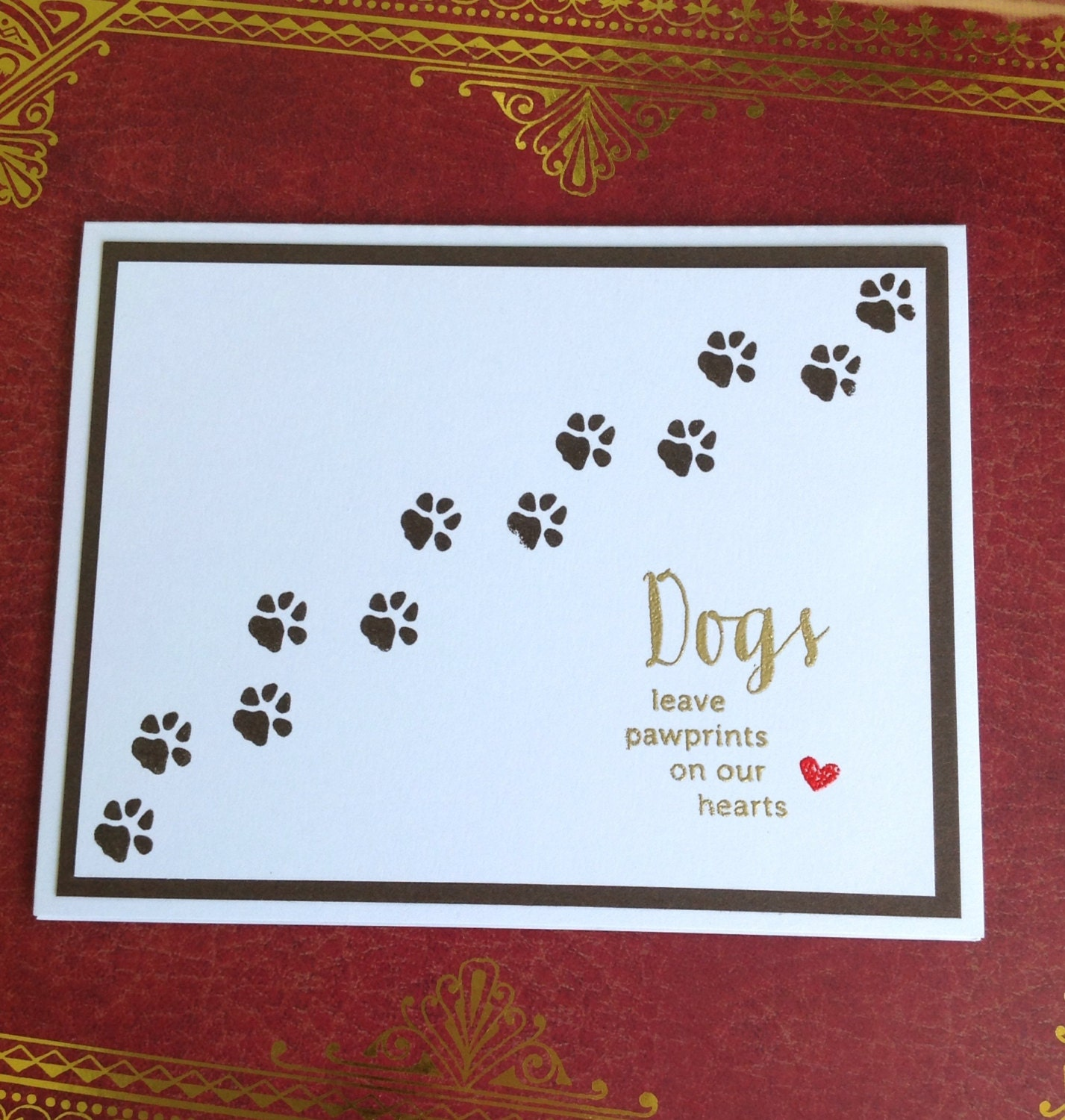 Crafty image with free printable sympathy card for loss of pet