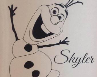 Popular Items For Frozen Wall Decal On Etsy