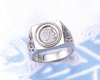 925o silver Alexander the Great ring - free shipping!