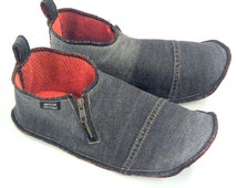 Denim Slippers of recycled jeans