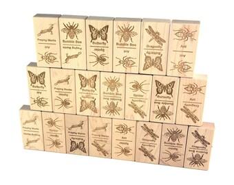 Bugs Jumbo Dominoes 21 pc Maple Blocks