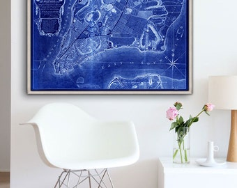 """New York map 1769, Historical map of New York, 4 sizes up to 54x36"""" NYC poster, also in blue, Manhattan, NY - Limited Edition of 100"""
