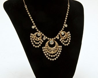 Vintage Sarah Coventry Rhinestone Gypsy Necklace