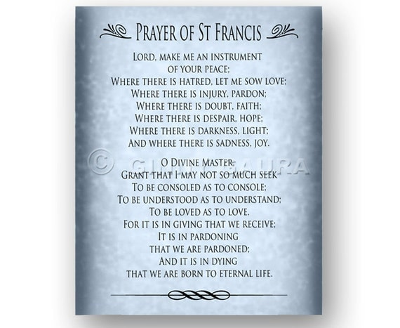 Accomplished image throughout st francis prayer printable