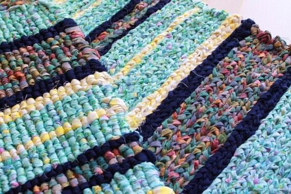 couverture de chiffon de coton tapis catalogne crochet tiss. Black Bedroom Furniture Sets. Home Design Ideas
