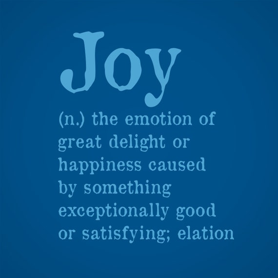 Meaning Of Wall Decor : Items similar to joy dictionary definition wall art on etsy