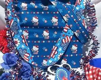 Hello Patriotic Kitty Reusable Bag