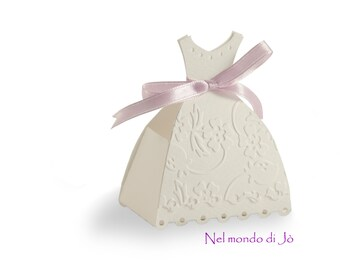 "Box door confetti ""Wedding Dress"""