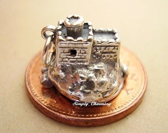 Cinderella castle opening Sterling Silver charm