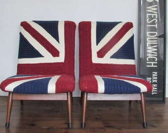 Art and Bart Union Jack knit chairs