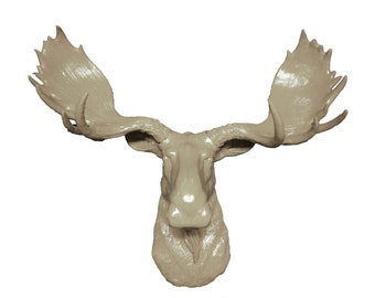 Moose statue etsy - Fake moose head mount ...