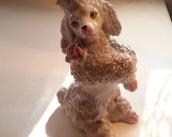 Vintage Porcelain Dog Decoration Figurine