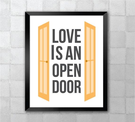Items similar to Frozen – Love is an Open Door Song Lyric ...