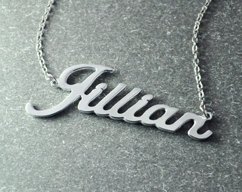 Free shipping - Name necklace - custom Name Necklace  - sterling silver necklace -  personalized Name Necklace