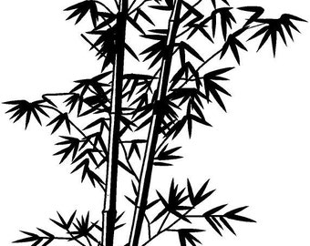 Chinese bamboo vinyl decal/sticker
