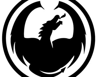 Dragon_optical vinyl decal/sticker