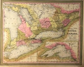 1846 Map of Canada West -formerly- Upper Canada