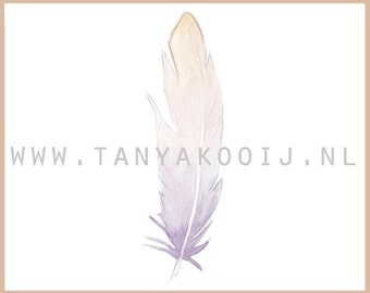 Feather digital clip art illustration. Ideal as digital clip art for your logo and businesscard.