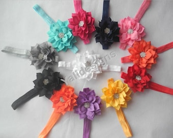 U Pick Wholesales Rhinestone Flower Headband Baby Headbands. Newborns Headbands. Girl's Headband YTH27