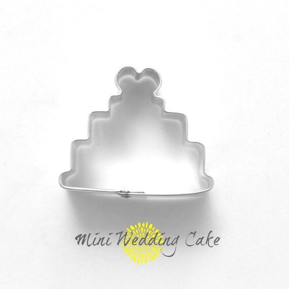 mini wedding cake cookie cutter mini cookie by thebuttercuphouse. Black Bedroom Furniture Sets. Home Design Ideas