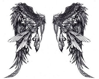 Wings - Temporary tattoo