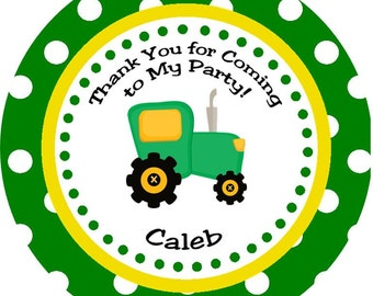 Tractor Time Thank You Favor Gift Tags - Printable Digital DIY Party Decorations