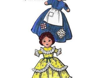 Cinderella Happy - Sad Face Topsy Turvy Pattern