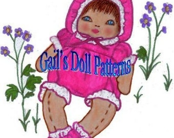 """12"""" Baby Buttercup Doll Pattern"""