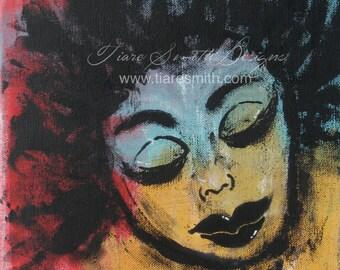 Peaceful and Free Print, Female, Black Art CLEARANCE