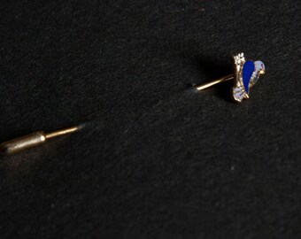 Vintage Single Blue Bird Pin