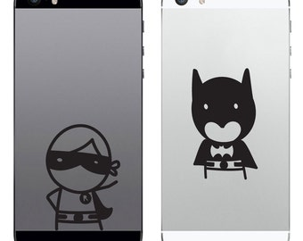TechTattz Dynamic Duo Batman and Robin Vinyl Decal Sticker for Phone Tablet Laptop