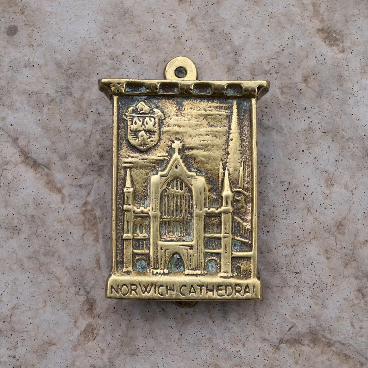 Brass norwich cathedral door knocker vintage - Vintage brass door knocker ...