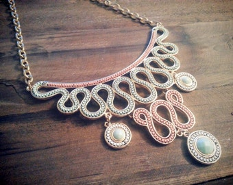 SOPHIA - Multilayer Swirls Necklace