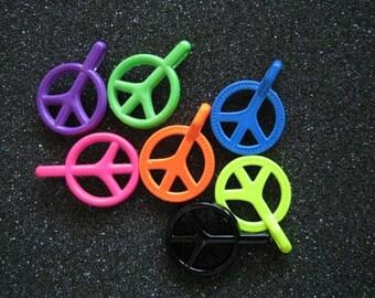 21pcs Bright Neon Mix  Peace Charms Charms pendant.