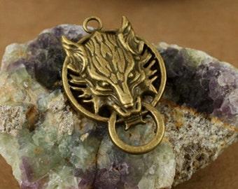 8pcs  Antique Bronze Lovely wolf Charms Pendant. c792