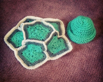 Crocheted Baby Turle Costume