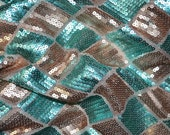 "Diamond Design sequin Tiffany Gold  fabric 55"" wide. Sold by the yard."
