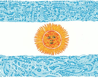 "Stickers of National Flag ""Argentina"""