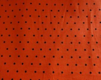 Halloween Orange w/Black Dots Fabric  548